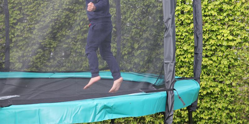 Exit trampoline